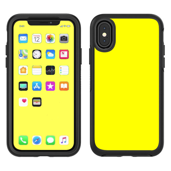 newest 49405 f7dfa Bright Yellow Otterbox Defender Apple iPhone X Skin
