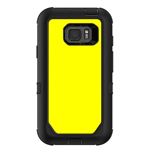 innovative design 63057 540c5 Bright Yellow Otterbox Defender Samsung Galaxy S7 Active Skin