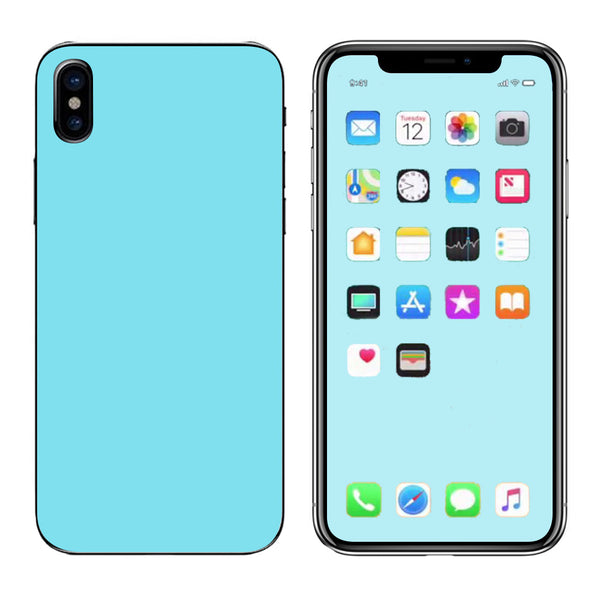 new product 863da 3690e Skins Decals for Apple iPhone X 10 / Baby Blue color | itsaskin.com