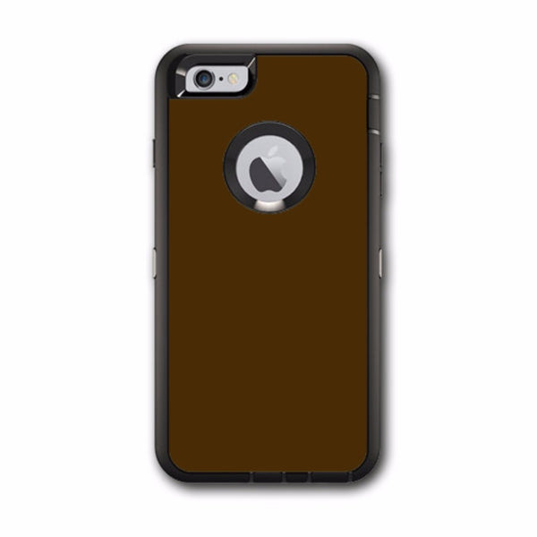 Solid Brown Otterbox Defender iPhone 6 PLUS Skin