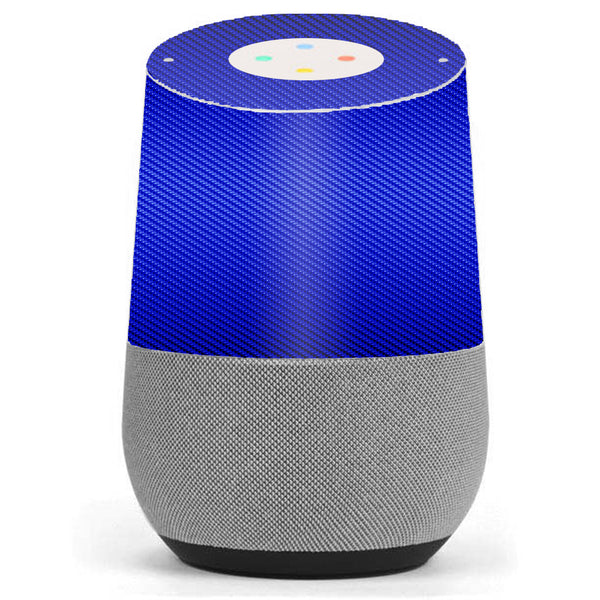 Blue Carbon Fiber Graphite Google Home Skin