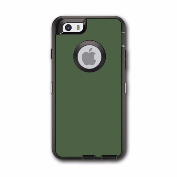 Solid Olive Green Otterbox Defender iPhone 6 Skin