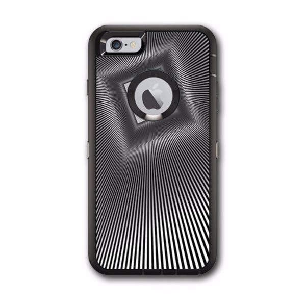Abstract Lines And Square Otterbox Defender iPhone 6 PLUS Skin
