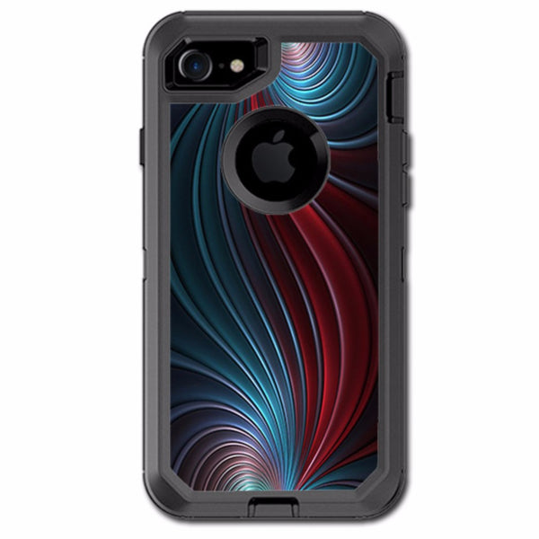 Colorful Swirl Otterbox Defender iPhone 7 or iPhone 8 Skin