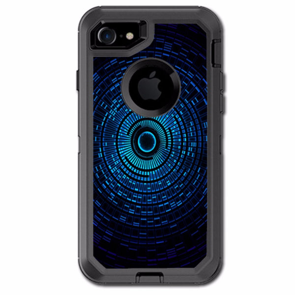 Abstract Blue Vortex Otterbox Defender iPhone 7 or iPhone 8 Skin
