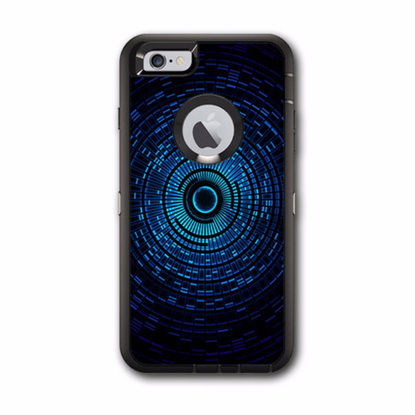 Abstract Blue Vortex Otterbox Defender iPhone 6 PLUS Skin