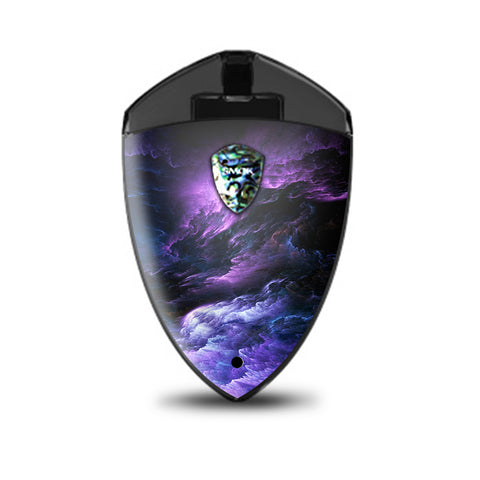 Purple Storm Clouds Smok Rolo Badge Skin