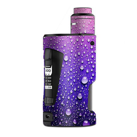 Waterdrops On Purple G Box Squonk Geek Vape Skin