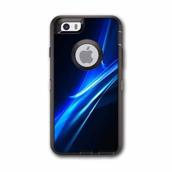 Blue Curves, Soundwaves Otterbox Defender iPhone 6 Skin