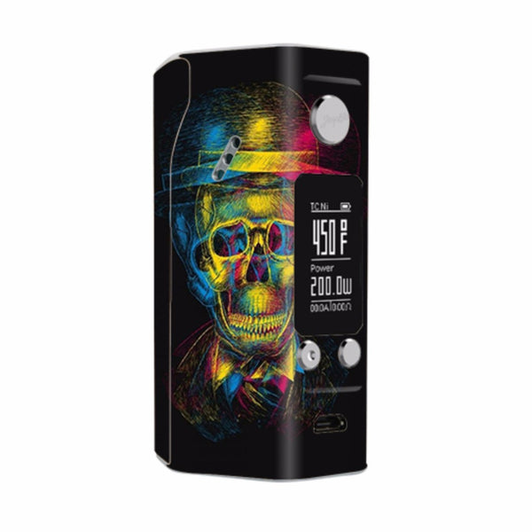 Skeleton In Derby Hat Wismec Reuleaux RX200S Skin