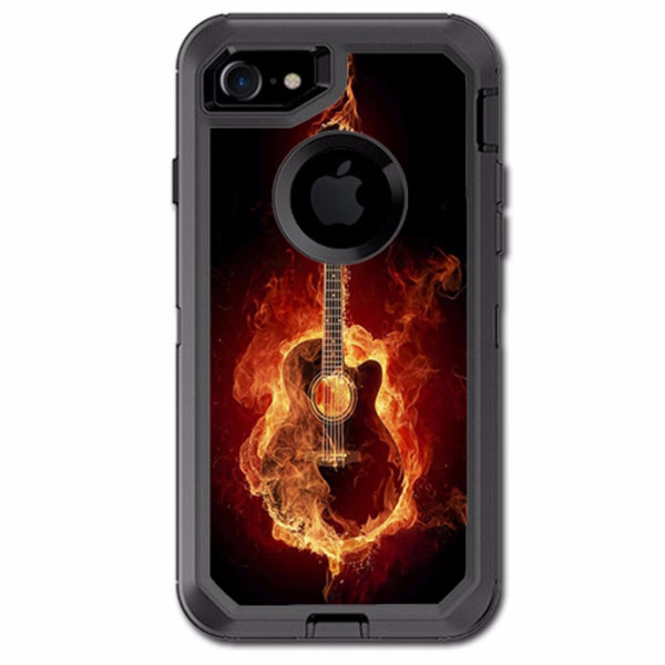 Guitar In Flames Otterbox Defender iPhone 7 or iPhone 8 Skin