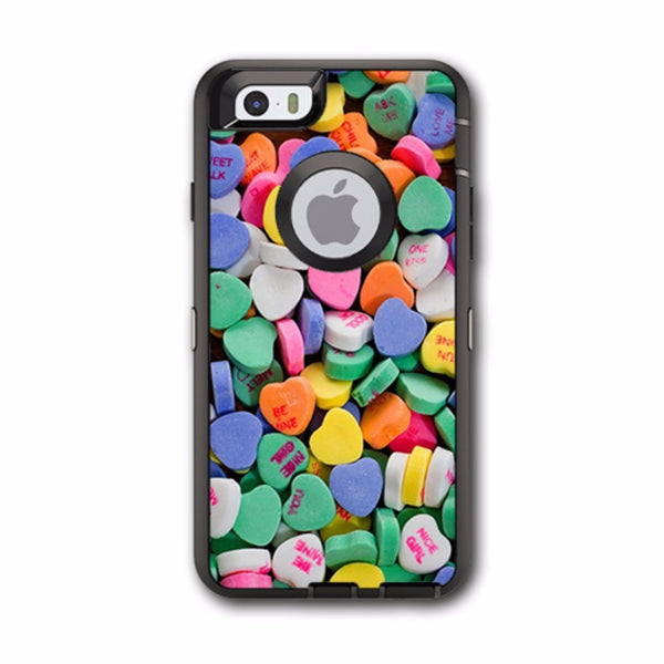 Heart Candy, Valentines Candy Otterbox Defender iPhone 6 Skin
