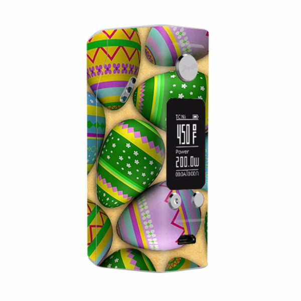 Easter Eggs Painted Wismec Reuleaux RX200S Skin