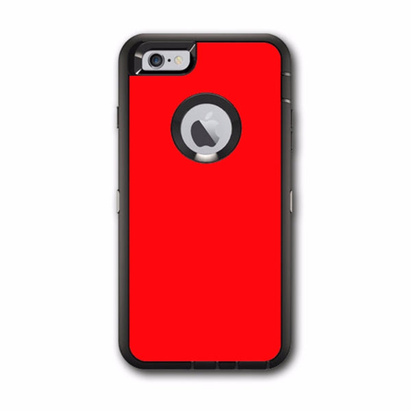 sports shoes 04d8b 2fefd Solid Red Color Otterbox Defender iPhone 6 PLUS Skin