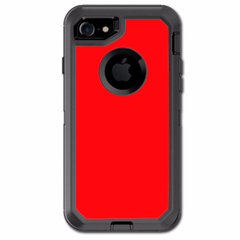 Solid Red Color Otterbox Defender iPhone 7 or iPhone 8 Skin