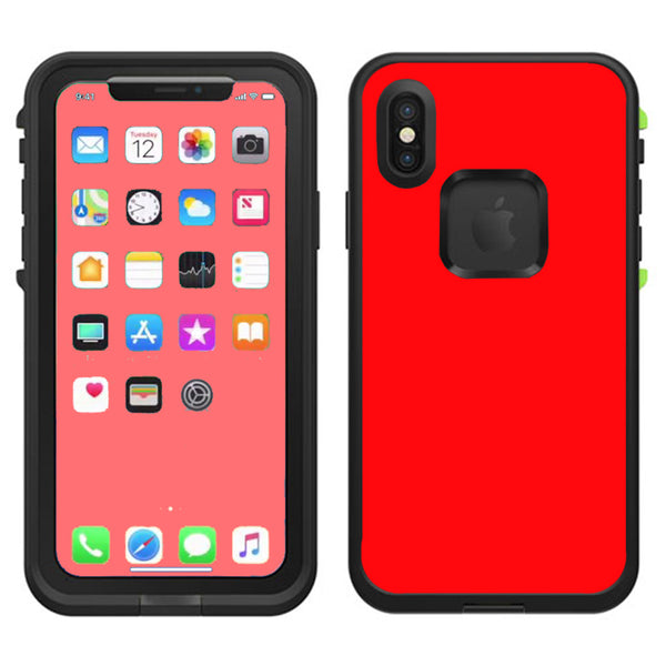 promo code 1f291 3a444 Solid Red Color Lifeproof Fre Case iPhone X Skin