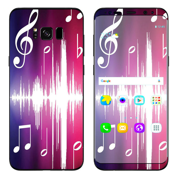 Music Notes Glowing Samsung Galaxy S8 Plus Skin