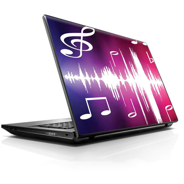 Music Notes Glowing Universal 13 to 16 inch wide laptop Skin