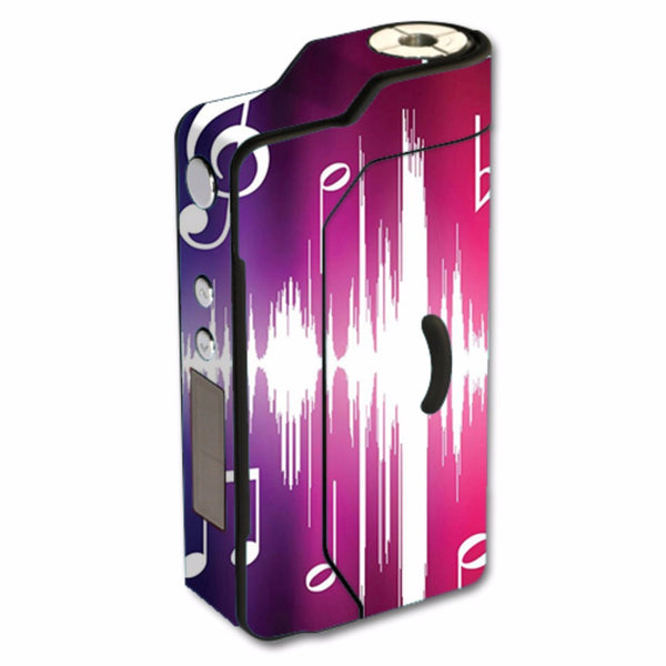 Music Notes Glowing Sigelei 150W TC Skin