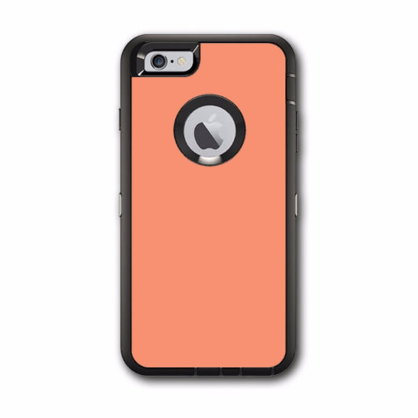Solid Peach Otterbox Defender iPhone 6 PLUS Skin