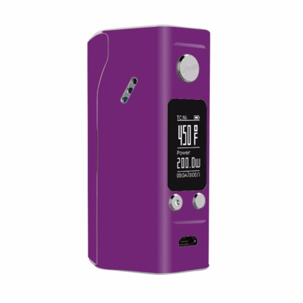 Purple Muted Wismec Reuleaux RX200S Skin