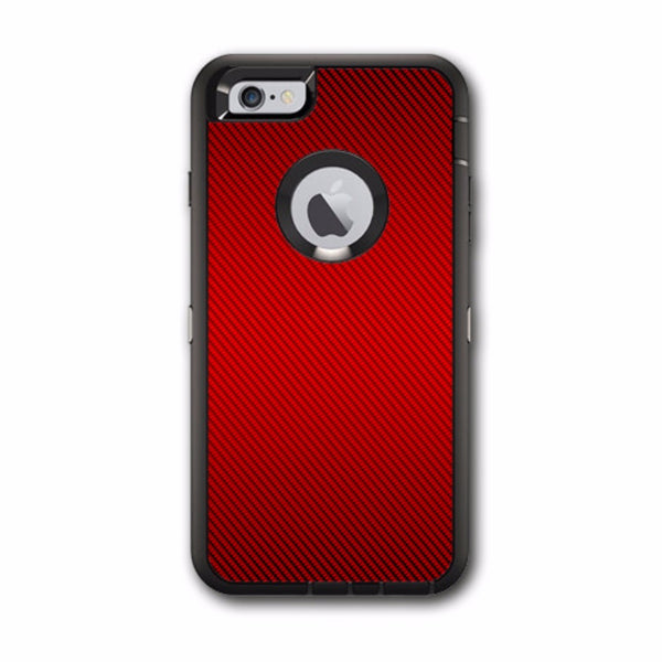 Red Carbon Fiber Graphite Otterbox Defender iPhone 6 PLUS Skin