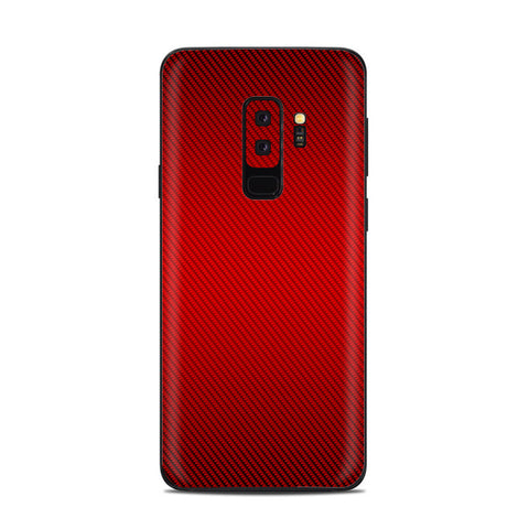 Red Carbon Fiber Graphite Samsung Galaxy S9 Plus Skin