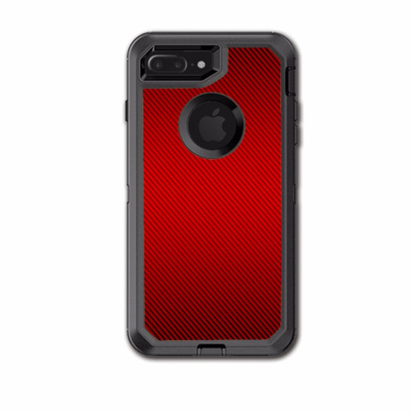 best service 52bb6 f6099 Red Carbon Fiber Graphite Otterbox Defender iPhone 7+ Plus or iPhone 8+  Plus Skin