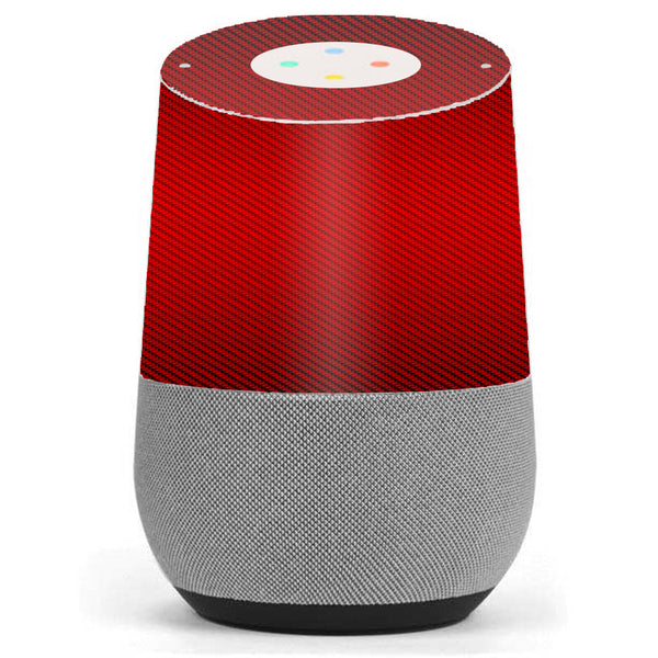 Red Carbon Fiber Graphite Google Home Skin