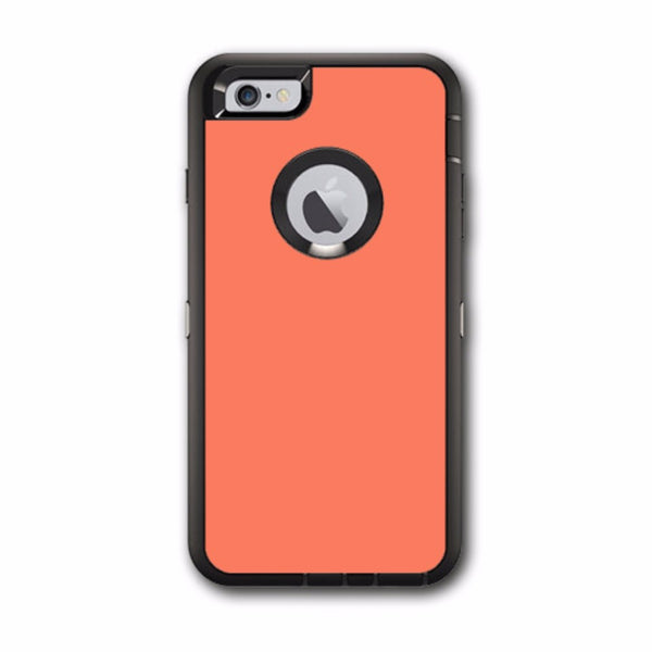 Solid Salmon Color Otterbox Defender iPhone 6 PLUS Skin