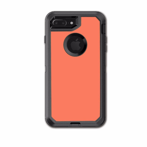 Solid Salmon Color Otterbox Defender iPhone 7+ Plus or iPhone 8+ Plus Skin