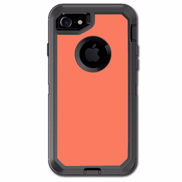 Solid Salmon Color Otterbox Defender iPhone 7 or iPhone 8 Skin