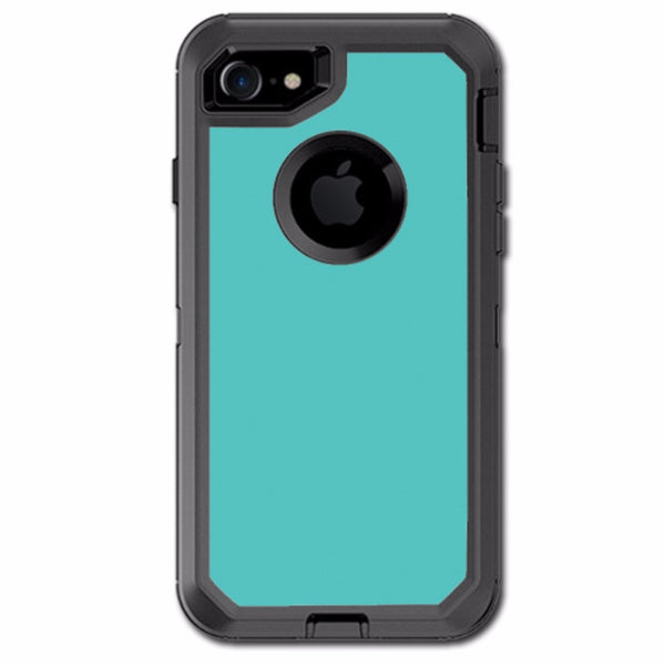 Turquoise Color Otterbox Defender iPhone 7 or iPhone 8 Skin