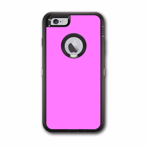 Solid Pink Color Otterbox Defender iPhone 6 PLUS Skin