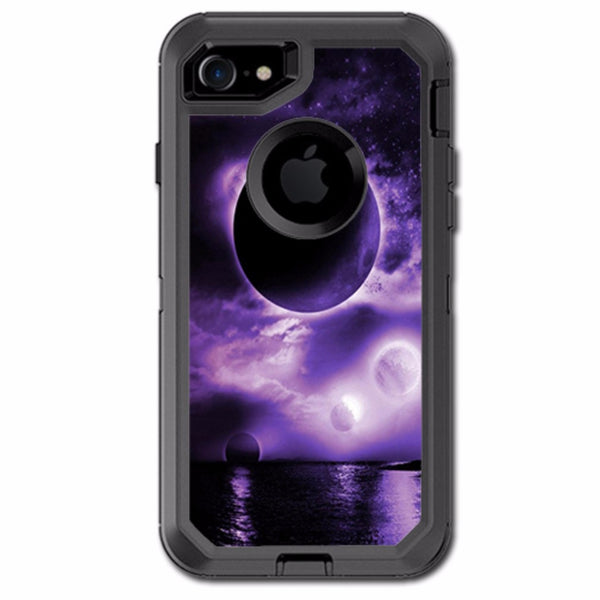 Eclipsed Moon Purple Sky Otterbox Defender iPhone 7 or iPhone 8 Skin