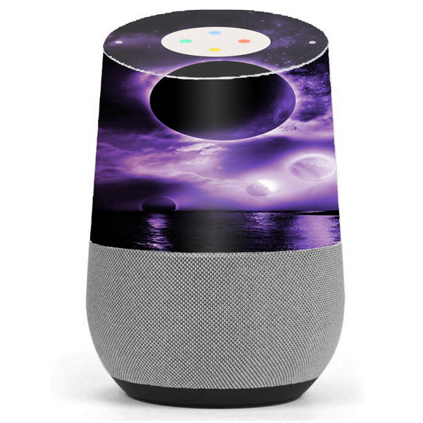 Eclipsed Moon Purple Sky Google Home Skin