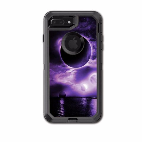 Eclipsed Moon Purple Sky Otterbox Defender iPhone 7+ Plus or iPhone 8+ Plus Skin