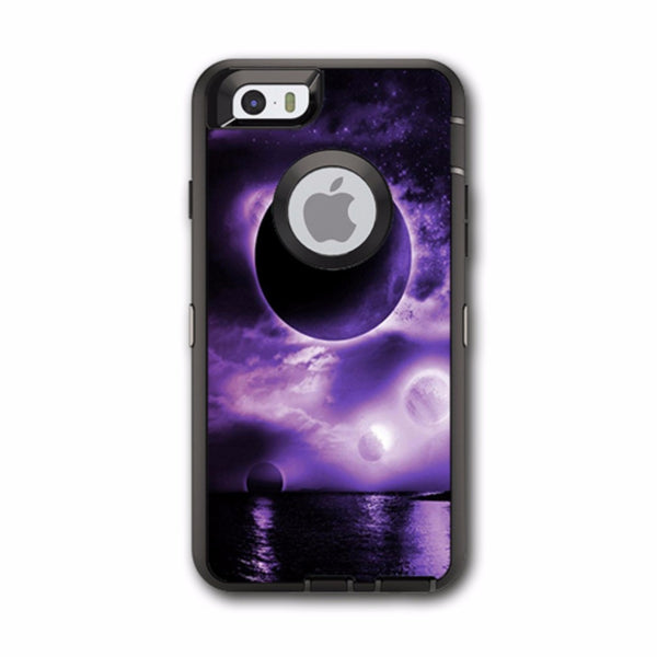 Eclipsed Moon Purple Sky Otterbox Defender iPhone 6 Skin