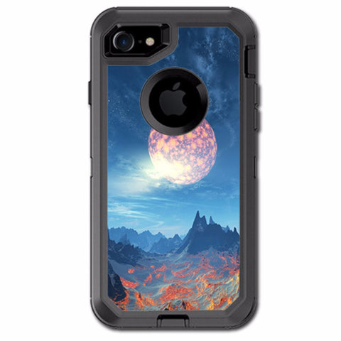 Moon Over Mountains Otterbox Defender iPhone 7 or iPhone 8 Skin