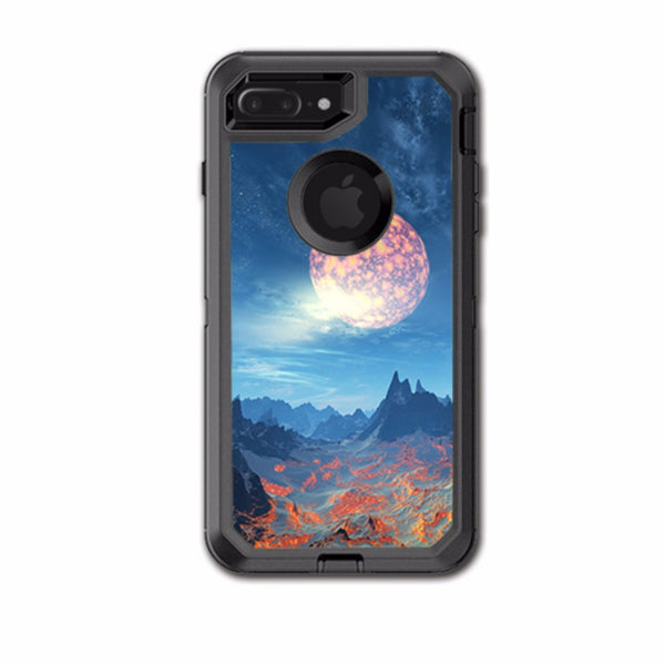 Moon Over Mountains Otterbox Defender iPhone 7+ Plus or iPhone 8+ Plus Skin