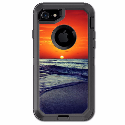 October Sunset On Beach Otterbox Defender iPhone 7 or iPhone 8 Skin