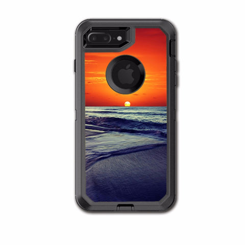October Sunset On Beach Otterbox Defender iPhone 7+ Plus or iPhone 8+ Plus Skin