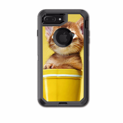 Cute Meng Kitten Otterbox Defender iPhone 7+ Plus or iPhone 8+ Plus Skin