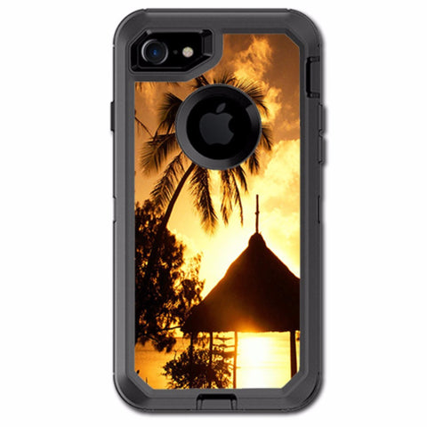 Tropical Sunrise Over Cabana Otterbox Defender iPhone 7 or iPhone 8 Skin