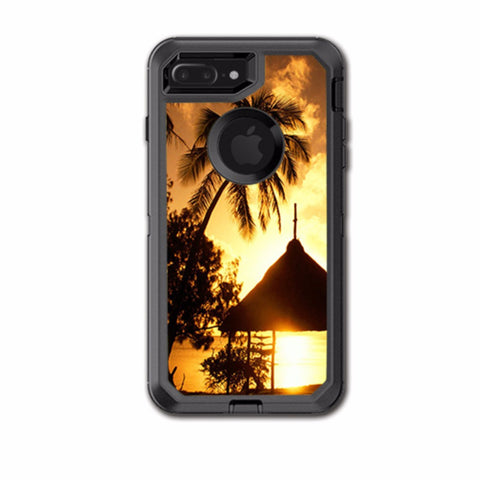 Tropical Sunrise Over Cabana Otterbox Defender iPhone 7+ Plus or iPhone 8+ Plus Skin