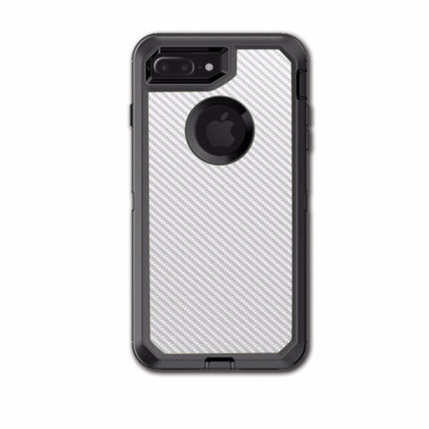 White Carbon Fiber Graphite Otterbox Defender iPhone 7+ Plus or iPhone 8+ Plus Skin