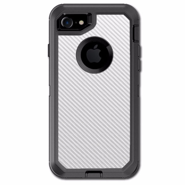 White Carbon Fiber Graphite Otterbox Defender iPhone 7 or iPhone 8 Skin