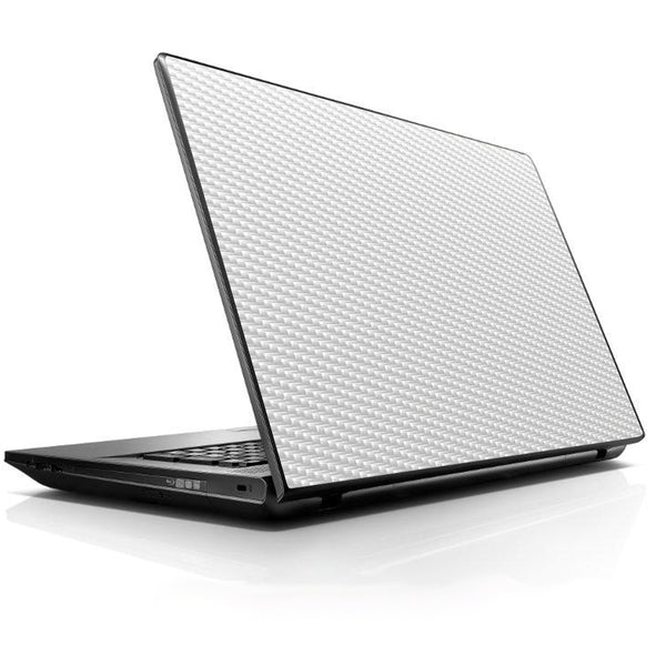 White Carbon Fiber Graphite Universal 13 to 16 inch wide laptop Skin