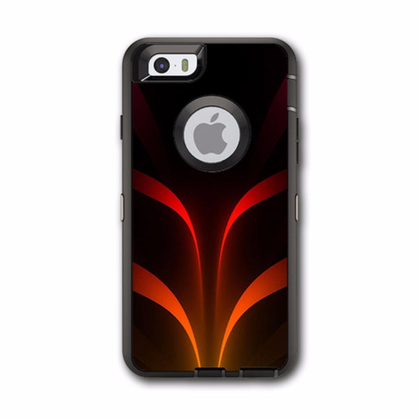 Red Orange Abstract Otterbox Defender iPhone 6 Skin