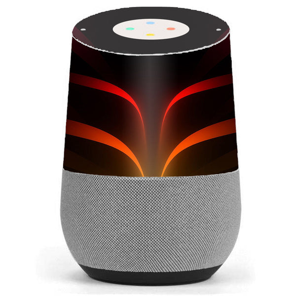 Red Orange Abstract Google Home Skin